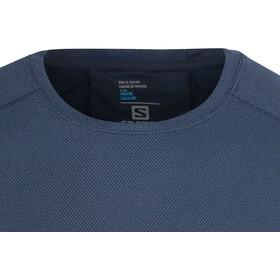Salomon Trail Runner Hardloopshirt korte mouwen Heren blauw